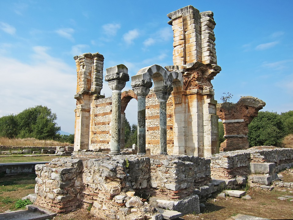 The Ruins of Basilica B at Philippi