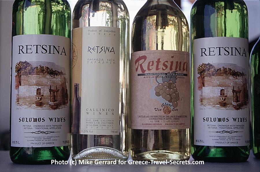 Retsina bottles.