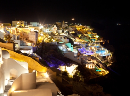 Oia on Santorini in the Cyclades, from http://www.greece-travel-secrets.com/Hotels-on-Santorini.html