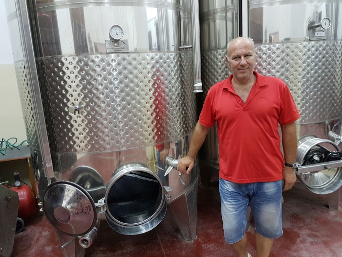 Ioannis Stilianou at his winery on Crete