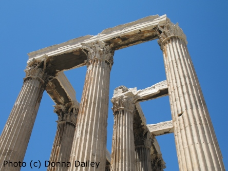 The Temple of Olympian Zeus in Athens photographed by Donna Dailey for Greece Travel Secrets