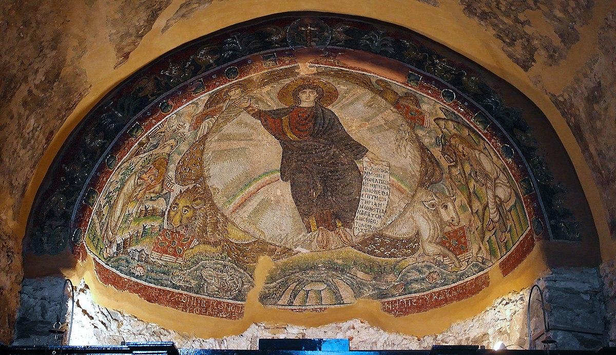 Mosaic in Osios David church in Thessaloniki