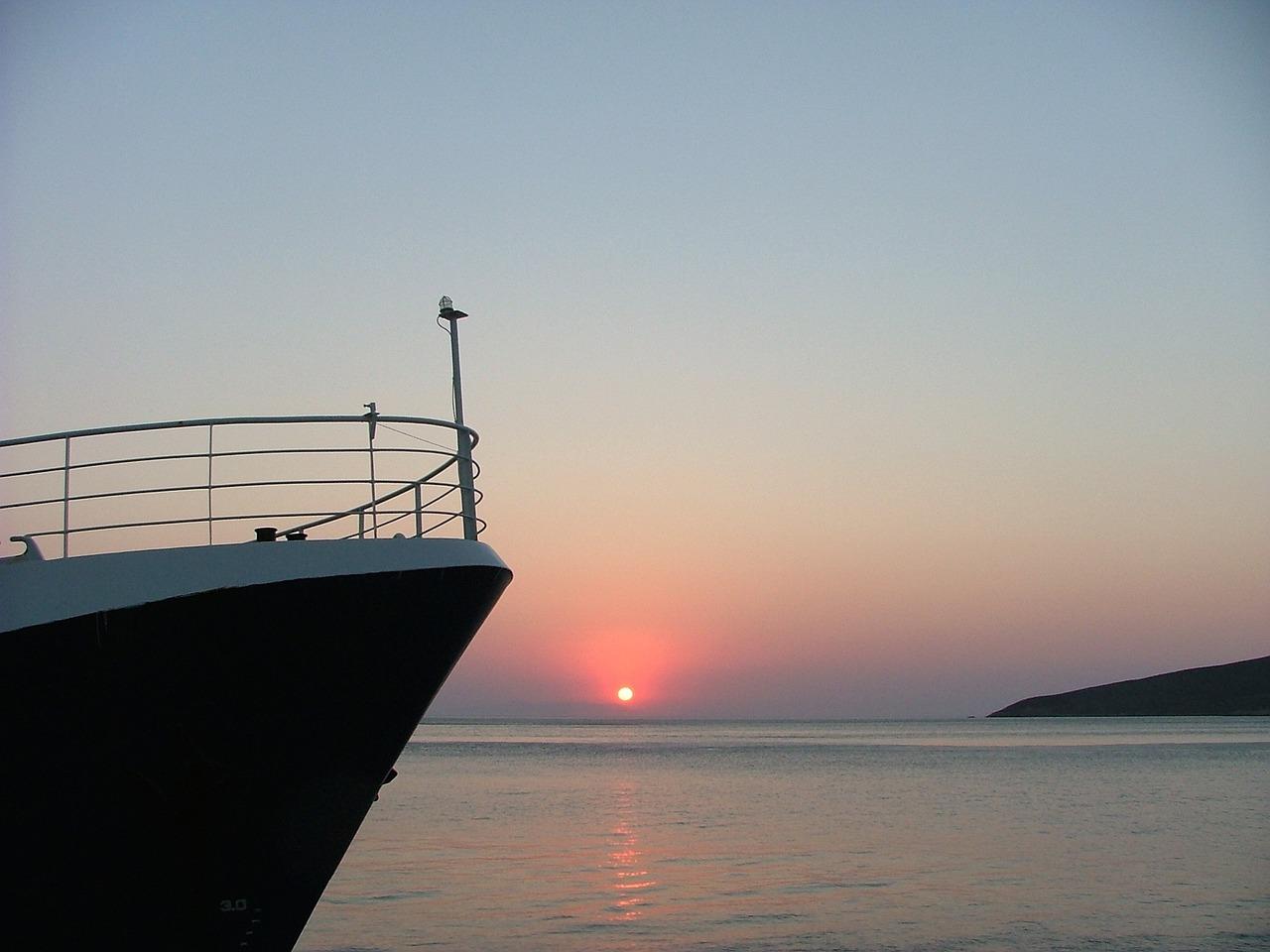 Ferry Arriving in Tilos