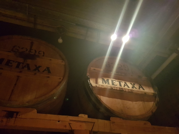 In the Metaxa Distillery in Athens