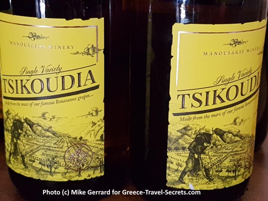 Tsikoudia Bottles on Crete