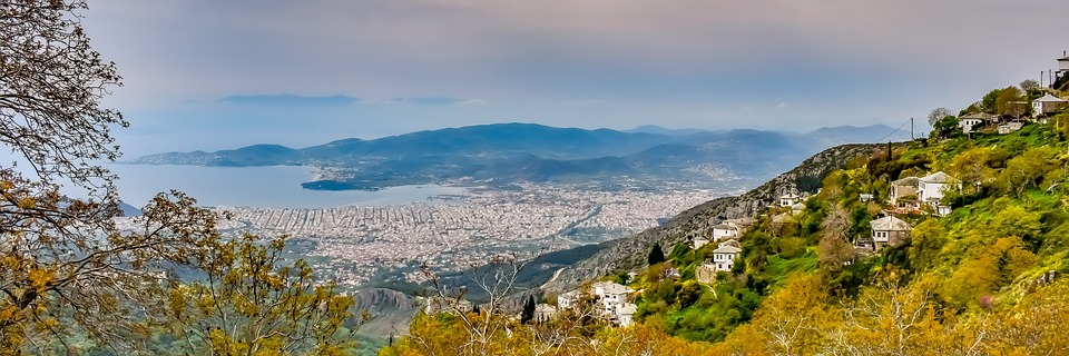 View of Volos from the Pelion