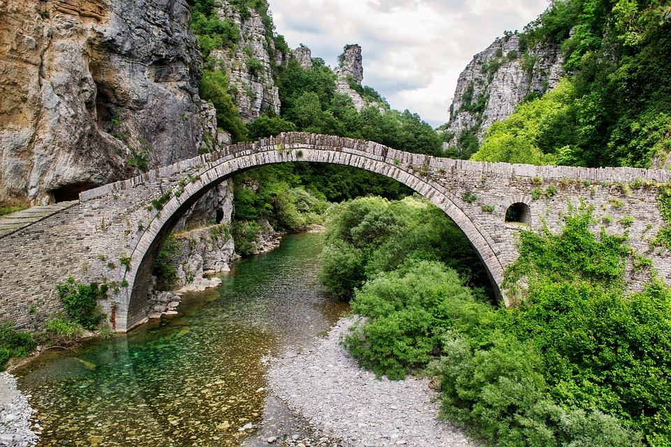 Traditional Zagorian Bridge in the Zagori region of Greece