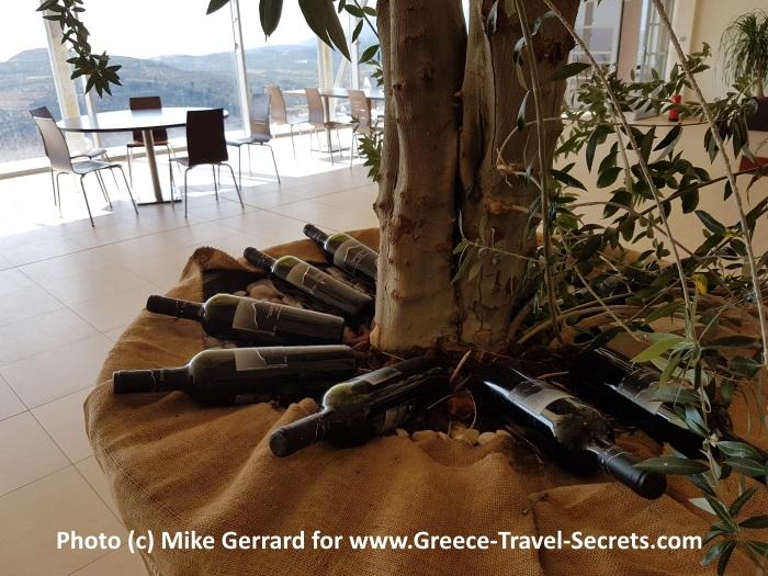 Tasting room at the Zacharioudakis Winery on Crete