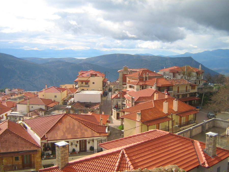 Arachova near Delphi in the Parnassus Mountains of Greece