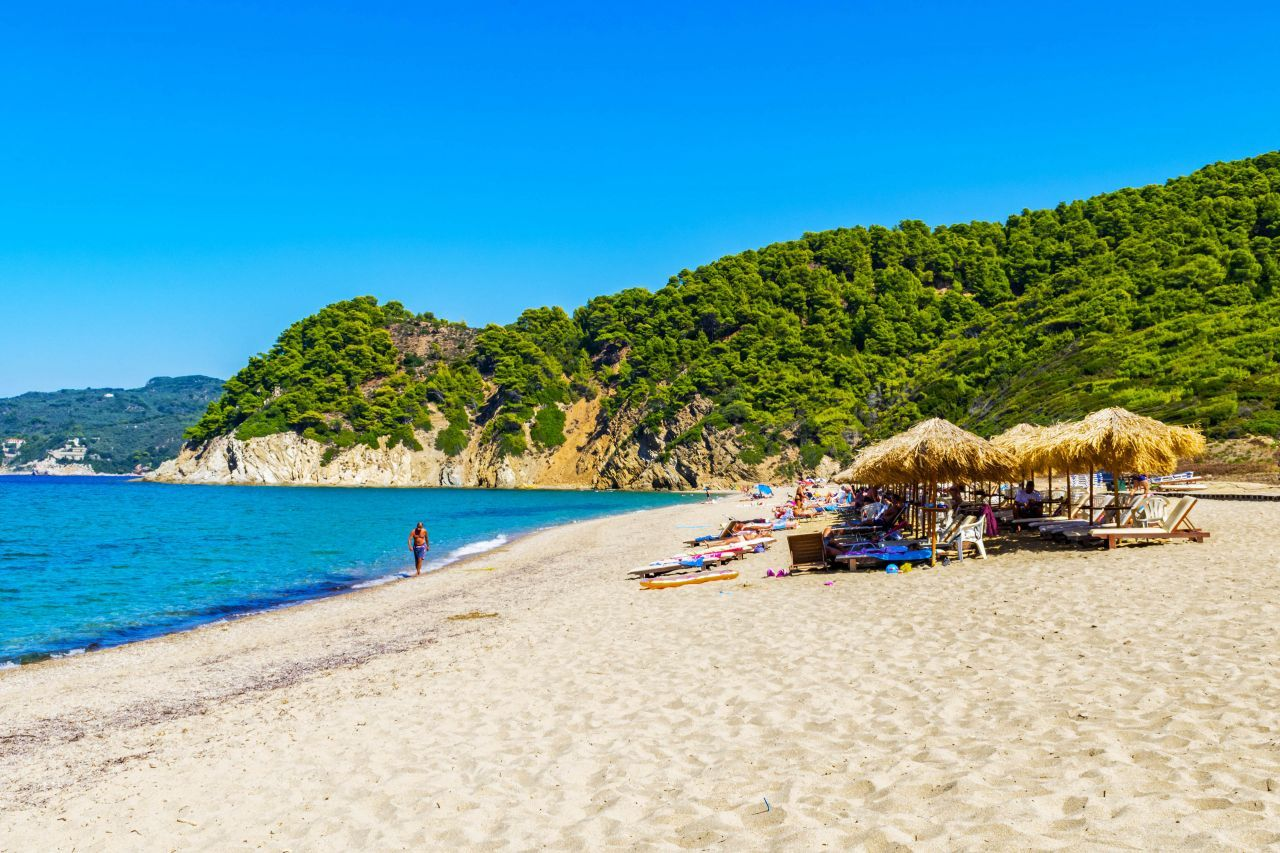 Aselinos beach on Skiathos