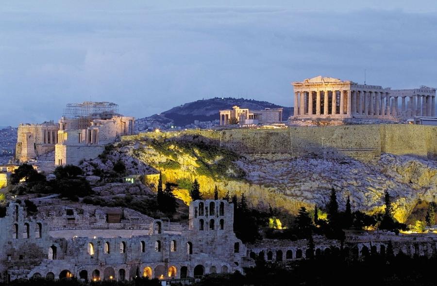 The Parthenon and Acropolis in Athens