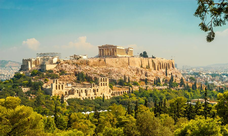 The Parthenon on the Acropolis in Athens, Greece