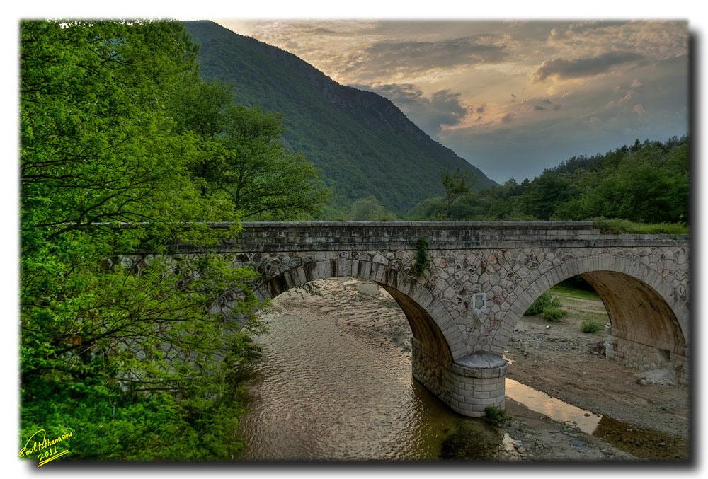 Old stone bridge near Xanthi, Thrace, Greece
