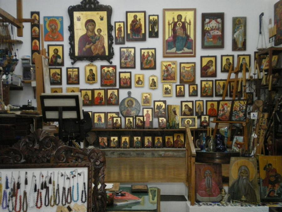 Greek icon painting studio