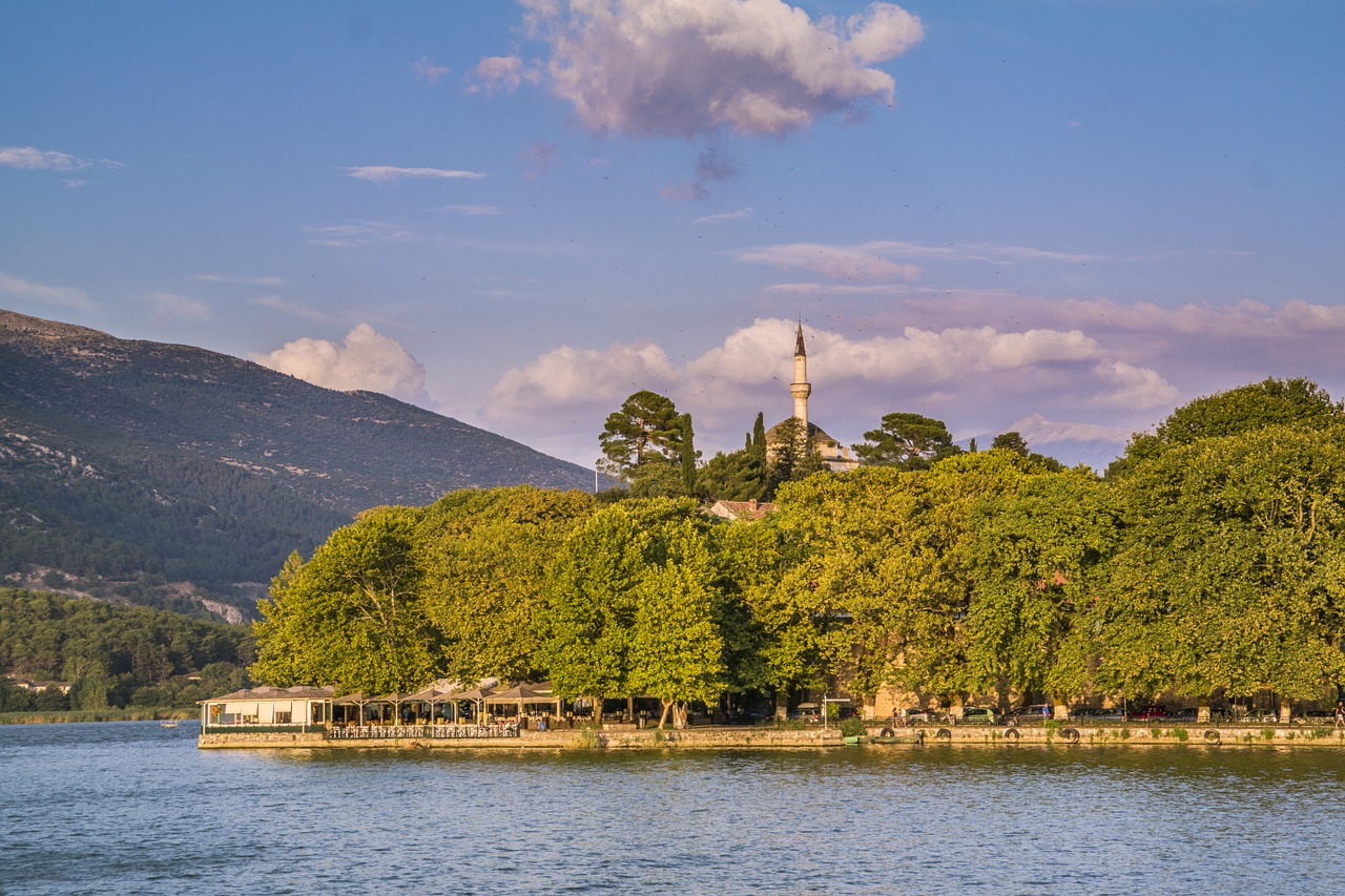 Ioannina stands on the shores of Lake Pamvotis