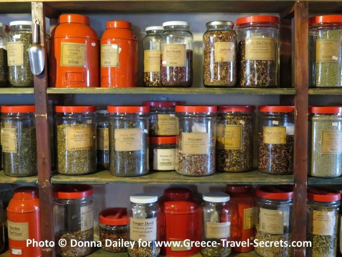 Creto Botano herb shop in Kouses, Crete