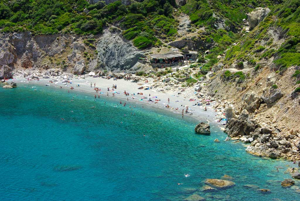 Kastro beach on Skiathos