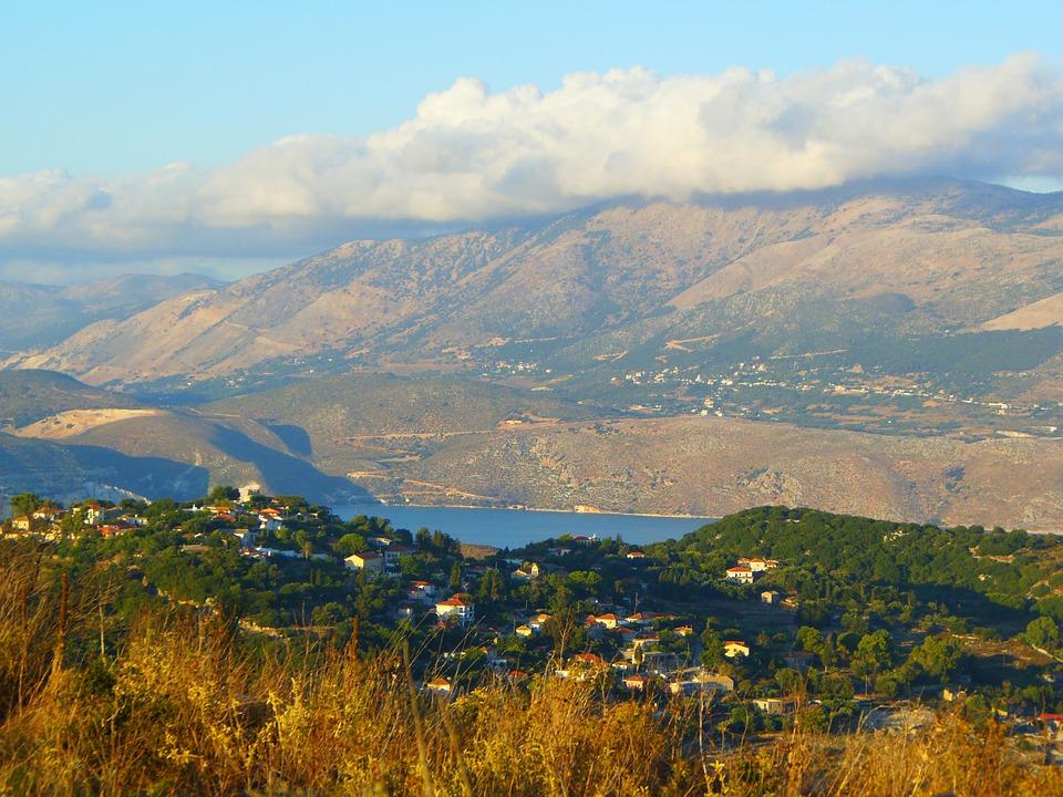 Kefalonia mountain landscape