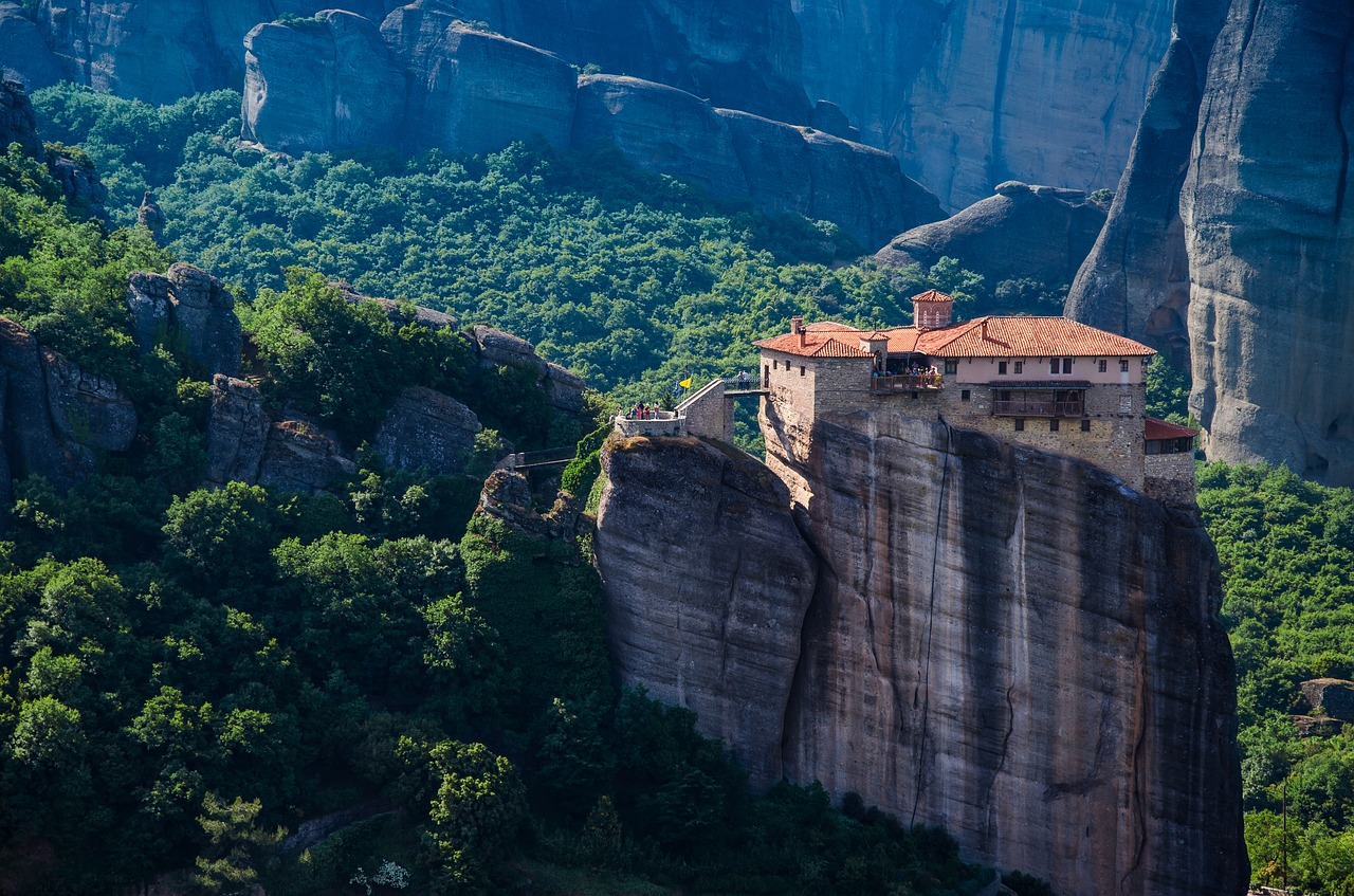 Seeing the monasteries of Meteora is one of the top ten things to do in Greece according to Greece Travel Secrets