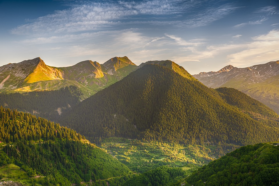 The Mountains around Metsovo in Greece