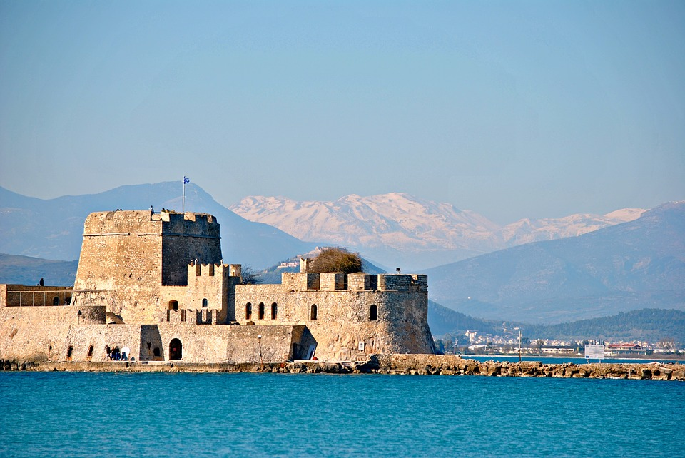 The Bourtzi Fortress in Nafplion