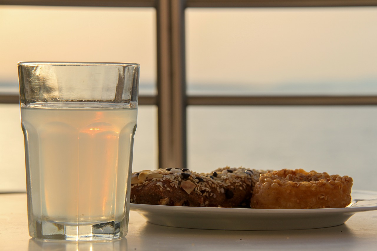 Ouzo with a snack