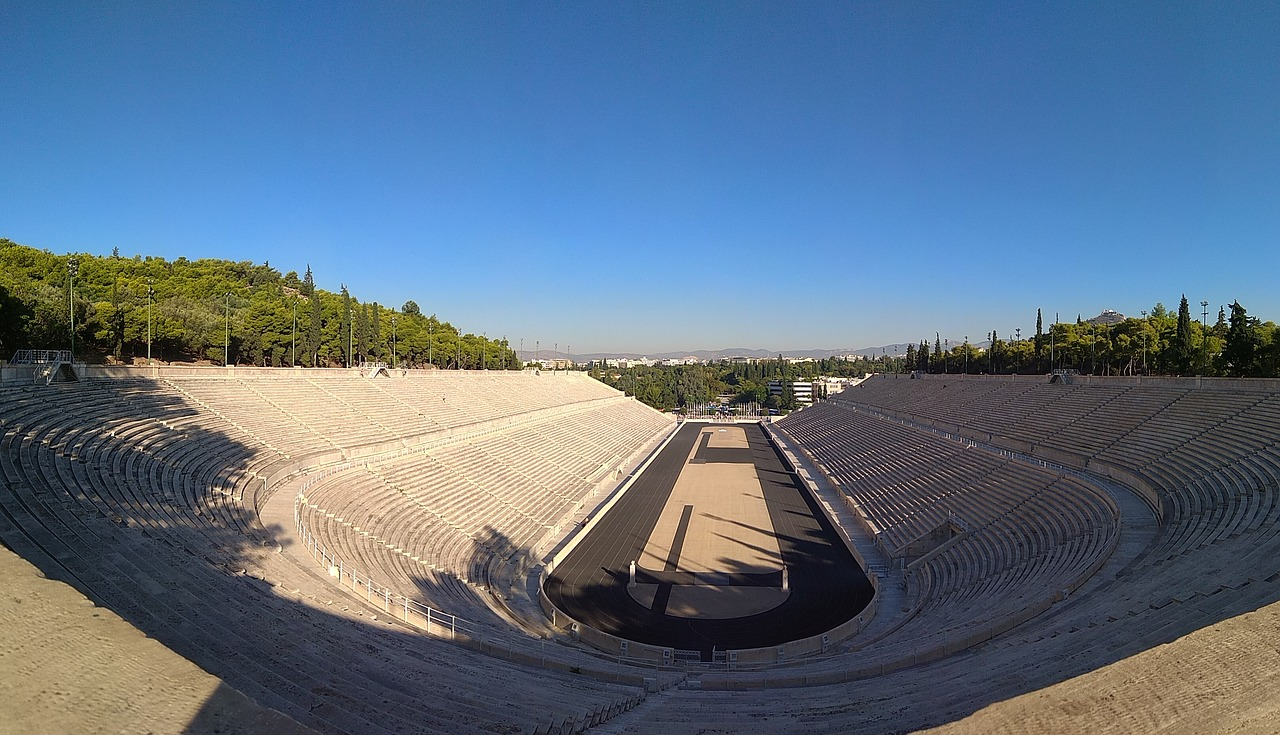 The 1896 Olympic Stadium in Athens