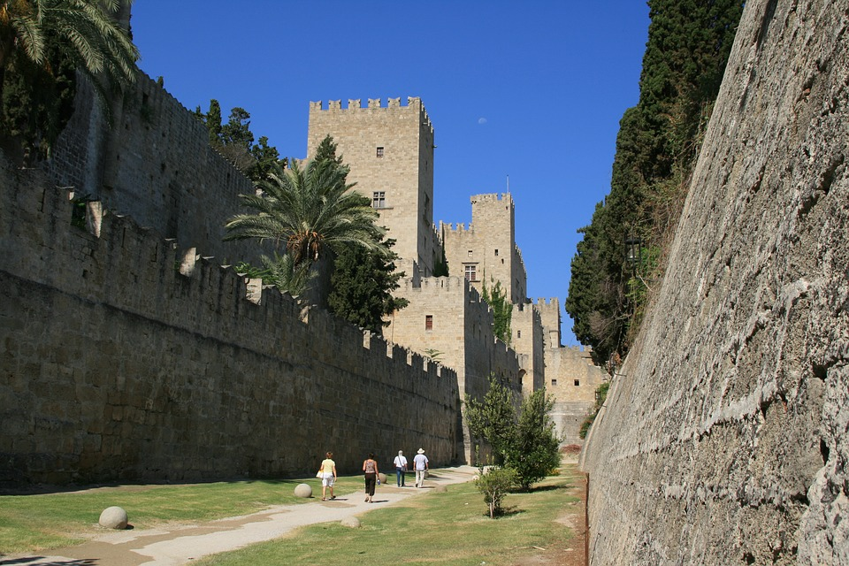 The City Walls in Rhodes Town