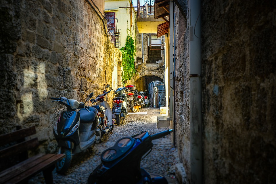 In the Old Town of Rhodes