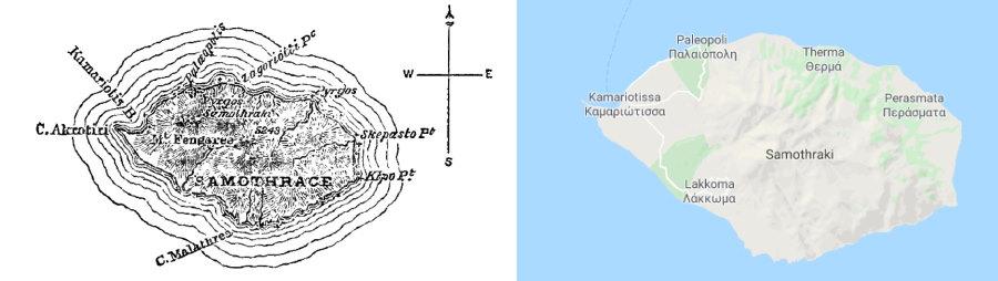 Maps of Samothraki