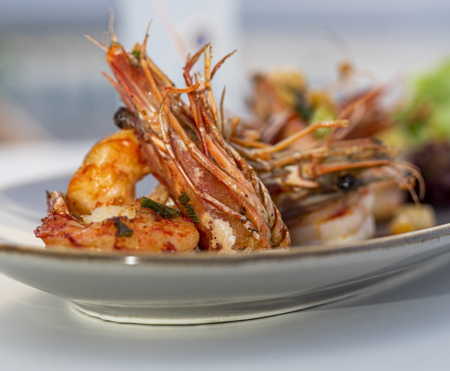 Shrimp cooked in Greek Ouzo