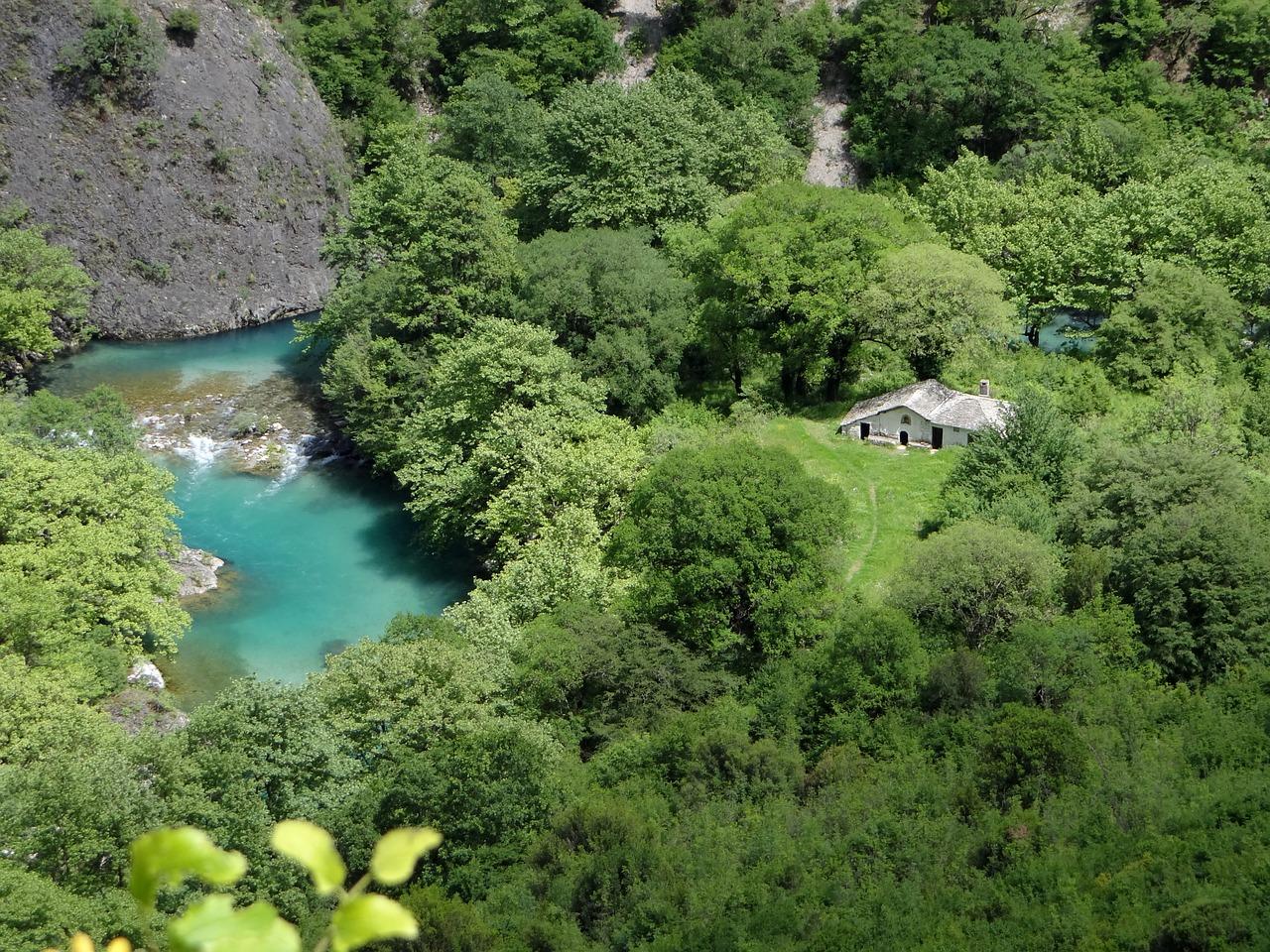 The Vikos Gorge in the Zagori region of Greece