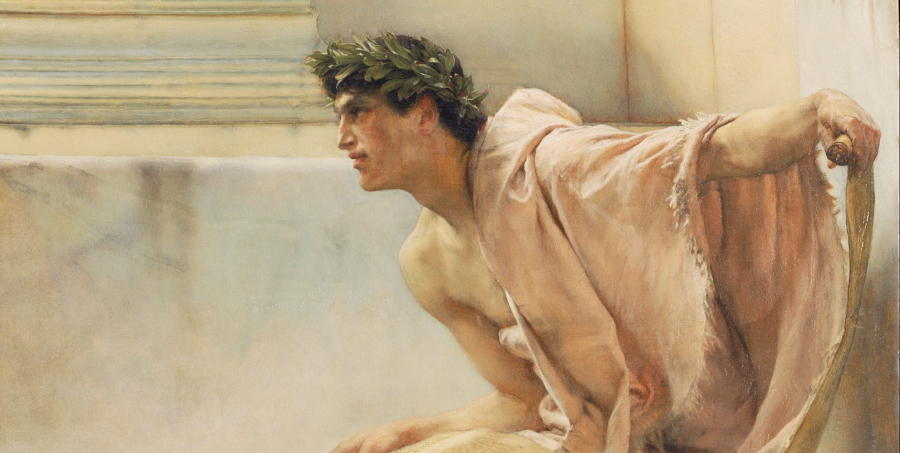 Detail from A Reading from Homer (1885) by Lawrence Alma-Tadema