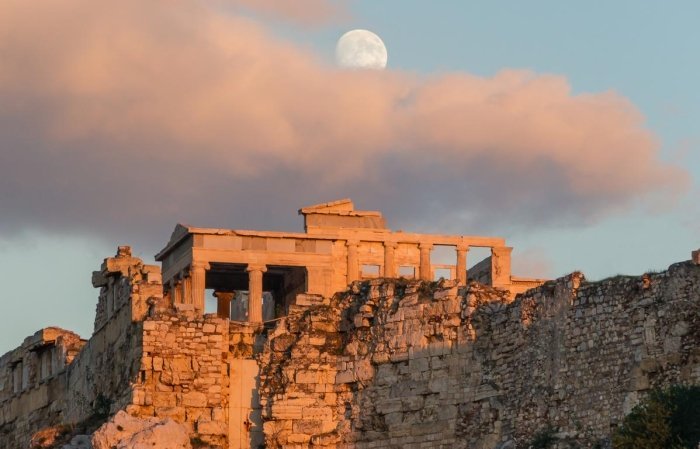 Sunset on the Acropolis in Athens