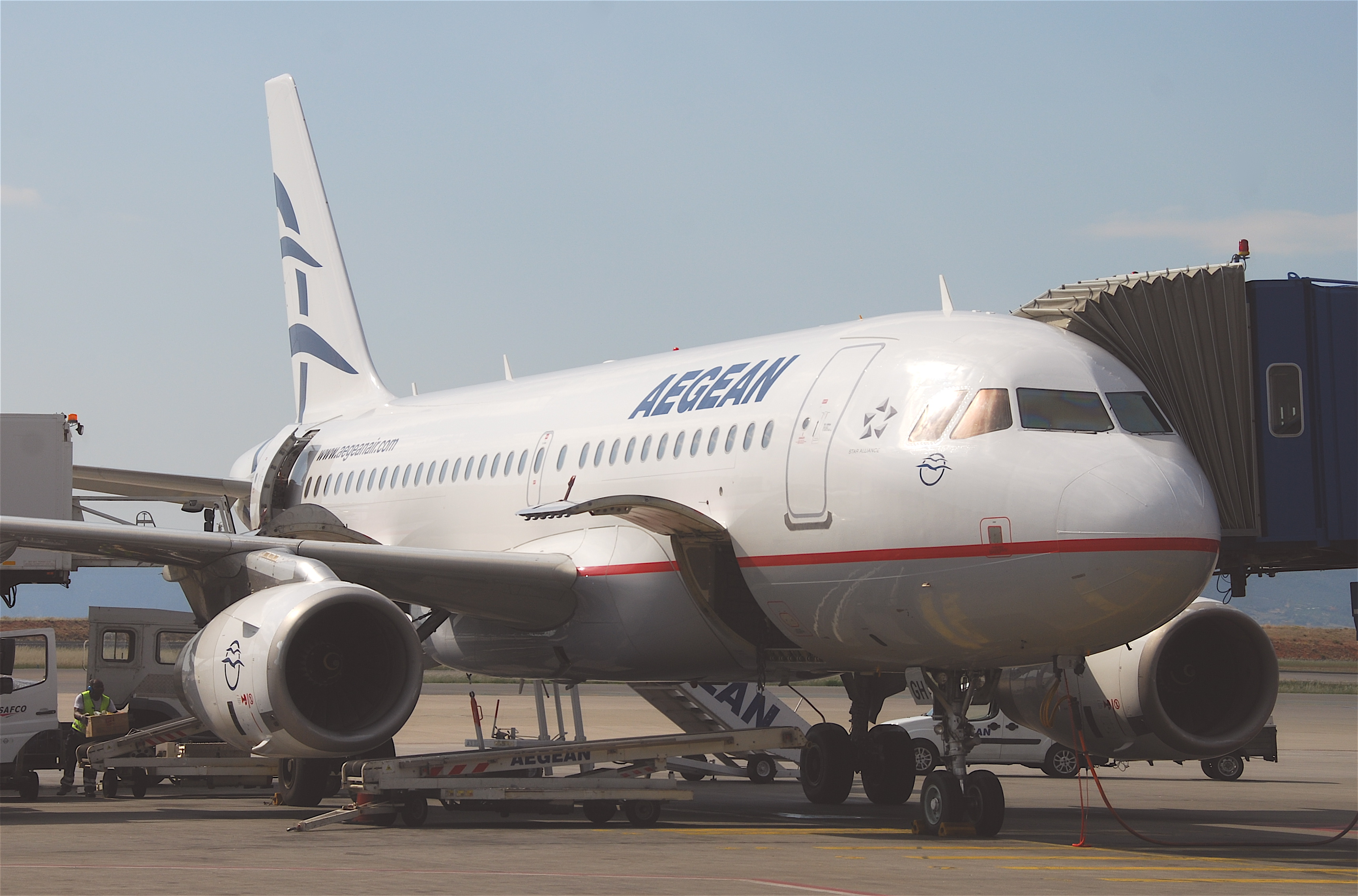 An Aegean Airlines Skybus Plane