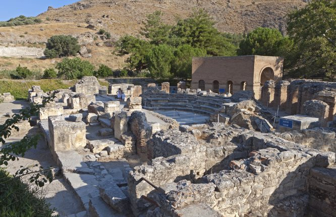 Ancient Gortina Archaeological Site in southern Crete, from https://www.greece-travel-secrets.com/Gortina.html