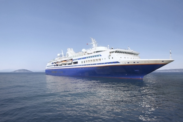 Celestyal Cruises' ship Odyssey, from https://www.greece-travel-secrets.com/Greek-food-and-drink-cruises.html