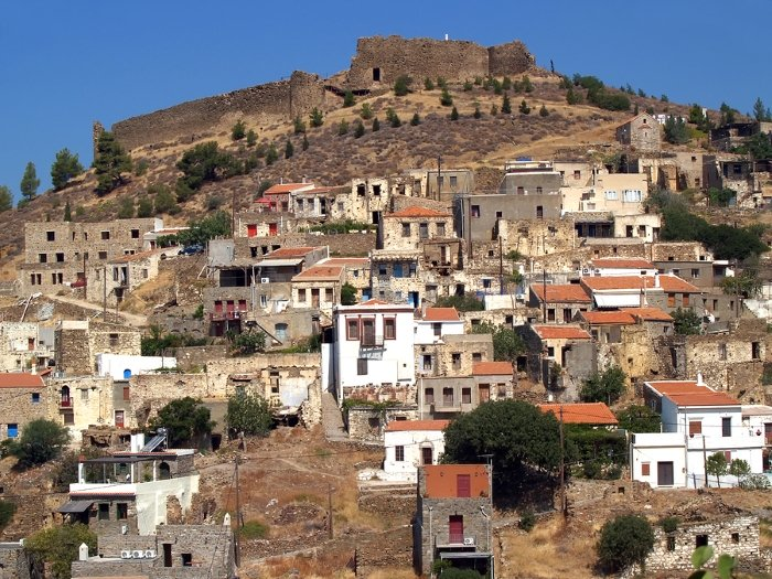 The village of Volissos on the Greek island of Chios