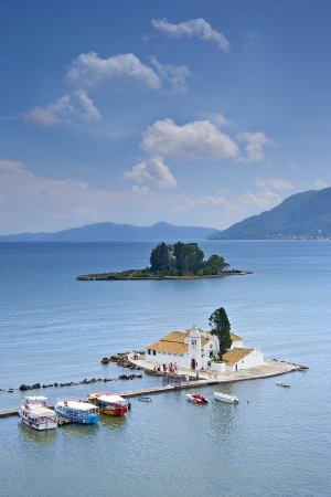 Kanoni on Corfu in the Ionian Islands of Greece, repinned from http://www.greece-travel-secrets.com/Best-Things-to-Do-on-Corfu.html