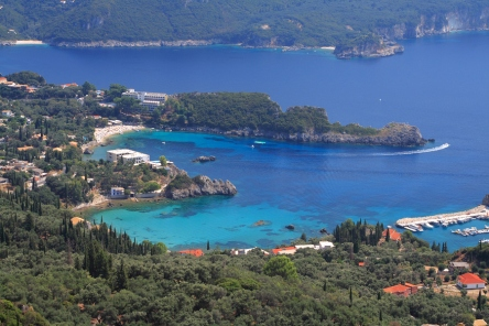 Paleokastritsa on Corfu, pinned from http://www.greece-travel-secrets.com/Paleokastritsa.html
