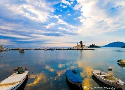 Corfu in the Ionian islands of Greece