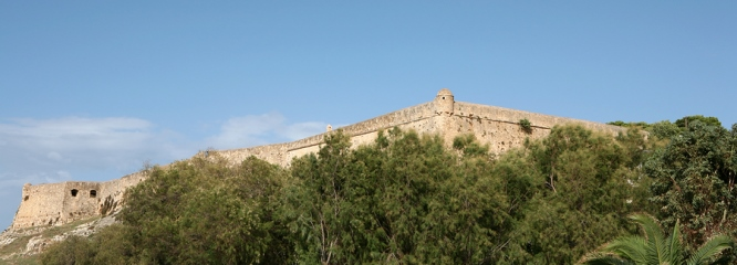 Rethymnon's venetian Fortress, from http://www.greece-travel-secrets.com/Rethymnon.html