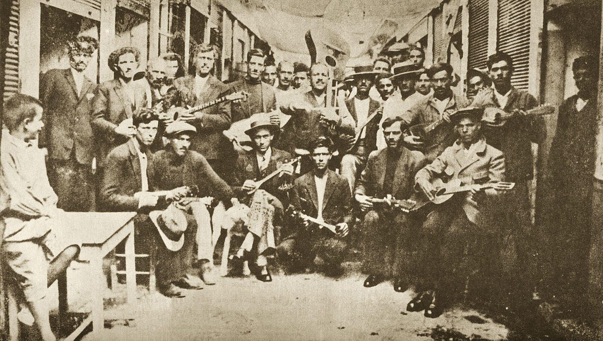Rembetika Musicians playing in Greece