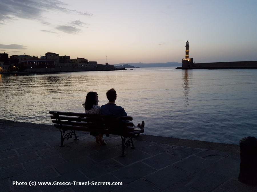 The Old Venetian Harbour in Chania on Crete