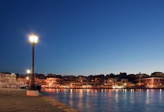 Sunset in Chania in Western Crete, from www.Greece-Travel-Secrets.com
