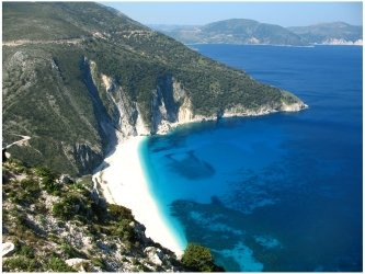 Myrtos Beach on Kefalonia, photo (c) Donna Dailey for http://www.greece-travel-secrets.com/Quick-Guide-to-Greece.html