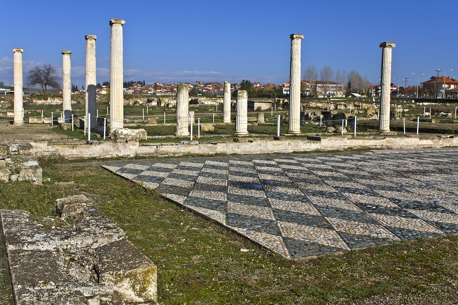 Archaeological site of Pella in Macedonia, Greece, repinned from https://www.greece-travel-secrets.com/Pella.html