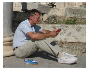 Mike Gerrard in Athens photographed by Donna Dailey for Greece Travel Secrets