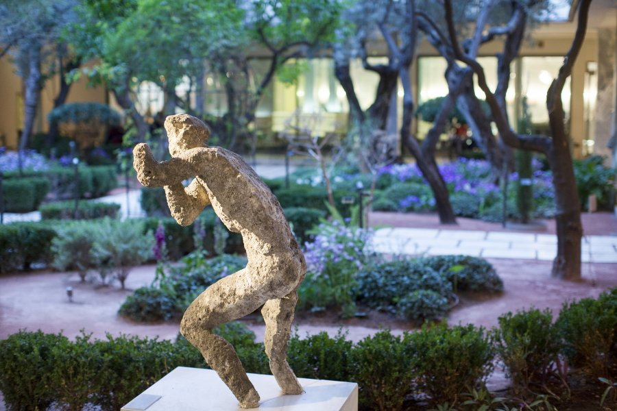 The Inner Garden at the National Archaeological Museum in Athens.