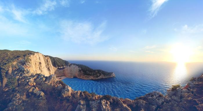 Zakynthos Beach and Cliffs